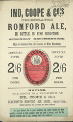 Advert For Ind, Coope & Co's Romford Ale 7073